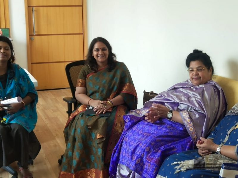 Visit of Dr Shakeel Ahmad, Joint Secretary, UGC , Dr Meher, Dean, Faculty of Business management, Hamdard University, New Delhi, Dr Saneem Fatima, Maulana Azad National Urdu University to IPE Shamirpet campus, Hyderabad
